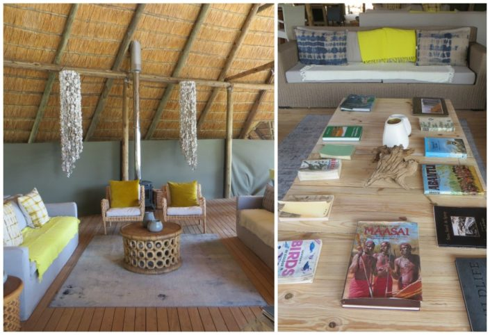 The lodge decor.